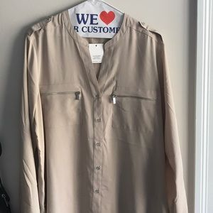 Calvin Klein Long Sleeve Button-Up